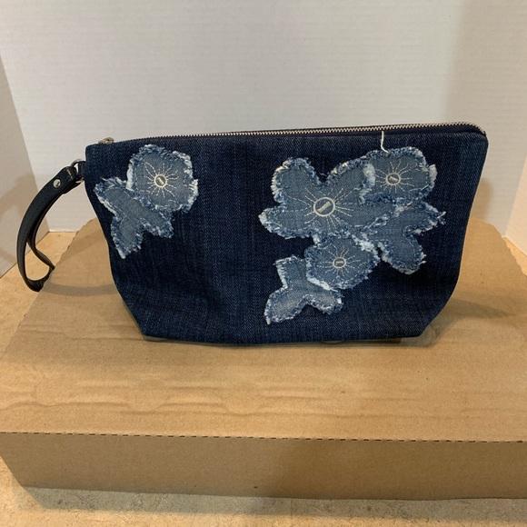 MICHAEL Michael Kors Handbags - Michael Kors Denim Wristlet!  Like new!!